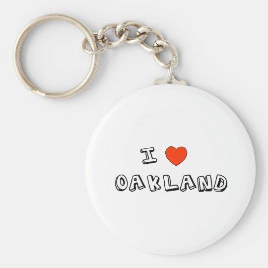 I Heart Oakland Keychain
