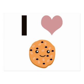 I heart Oatmeal Cookies Postcard