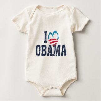 I Heart Obama Baby Bodysuit