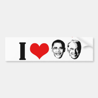 I HEART OBAMA BIDEN BUMPER STICKER