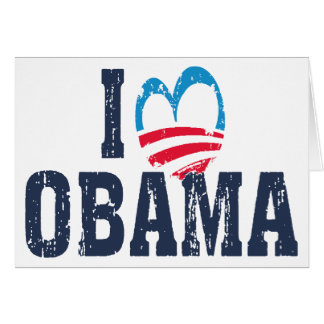 I Heart Obama Card