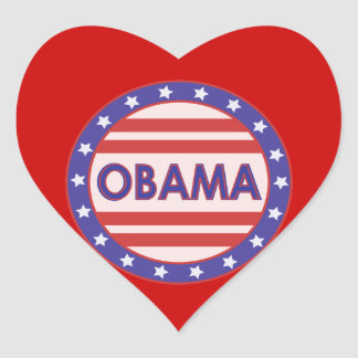 I Heart OBAMA Heart Sticker