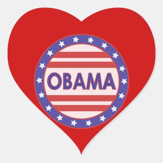 I Heart OBAMA Heart Sticker