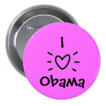 "I ""HEART"" OBAMA! PINBACK BUTTONS"