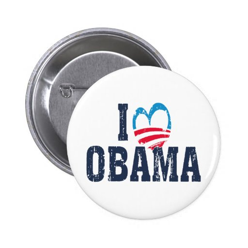 I Heart Obama Pinback Buttons