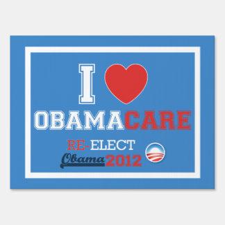 I <Heart> ObamaCare Yard Sign (MEDIUM size)