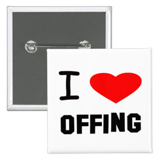 I Heart offing 2 Inch Square Button