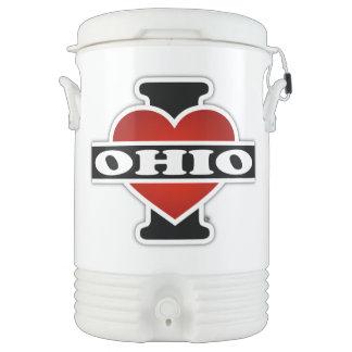 I Heart Ohio Beverage Cooler