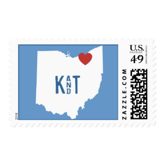 I Heart Ohio - Customizable City Stamp