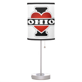 I Heart Ohio Desk Lamp