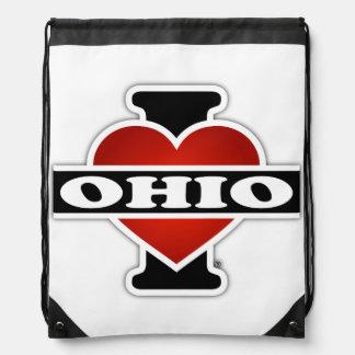 I Heart Ohio Drawstring Backpack