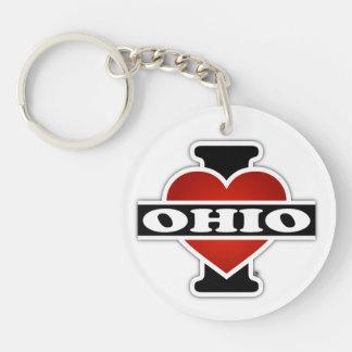 I Heart Ohio Keychain