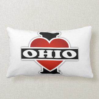 I Heart Ohio Lumbar Pillow