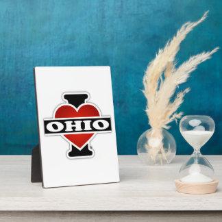 I Heart Ohio Plaque