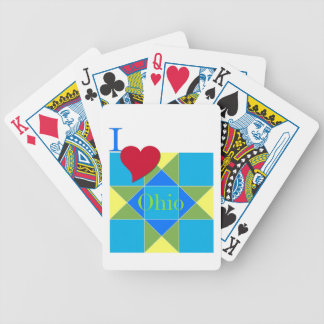 I Heart Ohio Quilt Block Design Bicycle Playing Cards