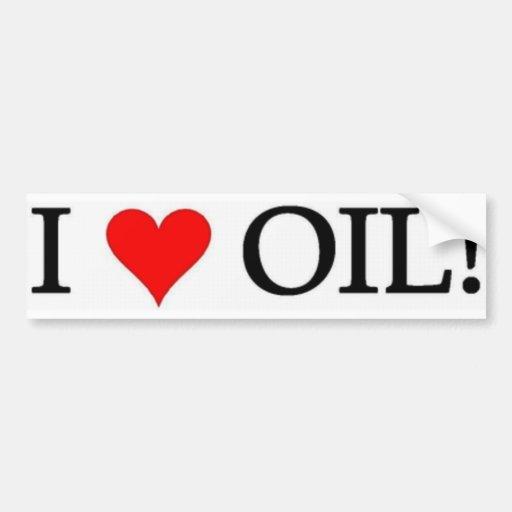 I Heart Oil! Car Bumper Sticker