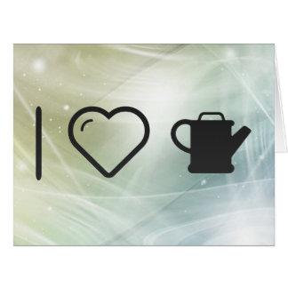 I Heart Oils Large Greeting Card