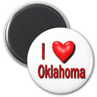 I Heart Oklahoma 2 Inch Round Magnet