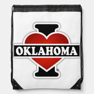 I Heart Oklahoma Drawstring Backpack