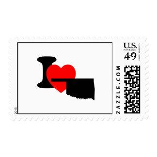 I Heart Oklahoma Stamps