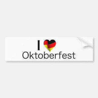 I Heart Oktoberfest Bumper Sticker