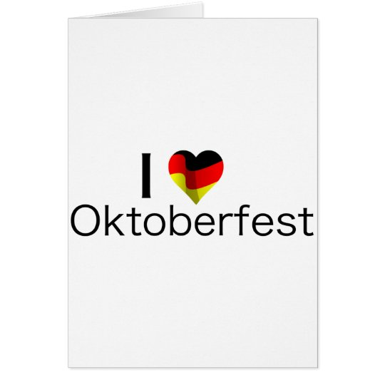 I Heart Oktoberfest Card