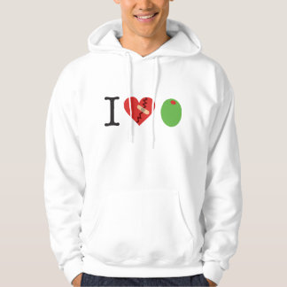 i heart olive JOIN THE FIGHT hoodie (white)