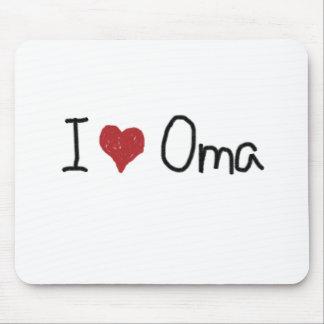 I heart Oma Mouse Pad