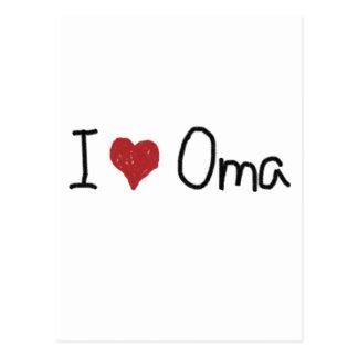 I heart Oma Postcard