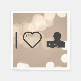 I Heart Online Tutorials Standard Cocktail Napkin