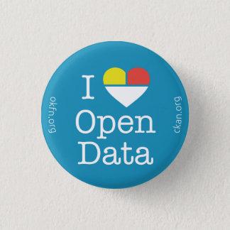 I Heart Open Data CKAN Badge (Dark Blue) Button