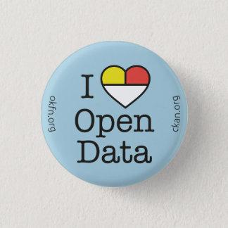 I Heart Open Data CKAN Badge (Light Blue) Button