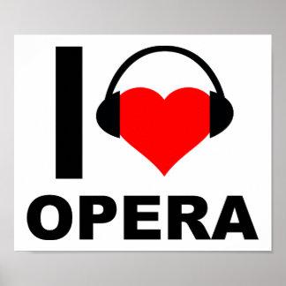 I Heart Opera Funny Poster