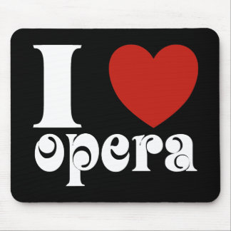 I Heart Opera Lovers Gift Mouse Pads