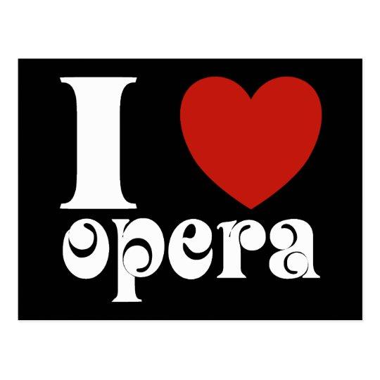 I Heart Opera Lovers Gift Postcard