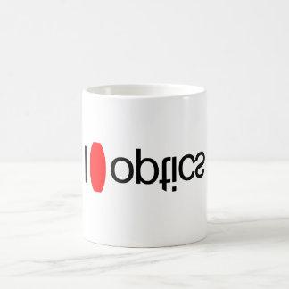 I heart optics classic white coffee mug