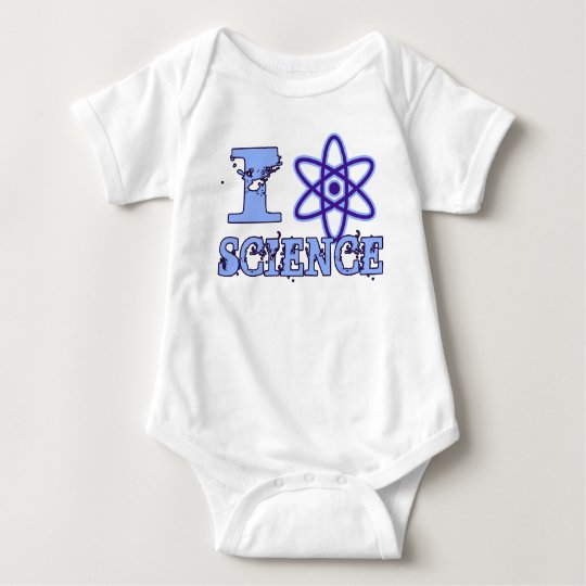 I Heart (or Atomic Symbol) Science Baby Bodysuit