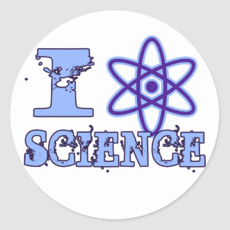 I Heart (or Atomic Symbol) Science Classic Round Sticker