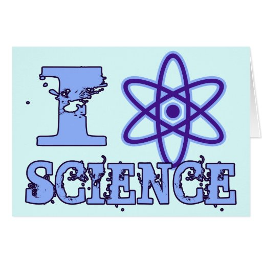 I Heart (or Atomic Symbol) Science Greeting Card