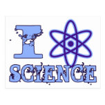 I Heart (or Atomic Symbol) Science Post Card