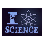 I Heart (or Atomic Symbol) Science Poster