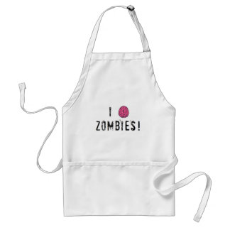 I (heart...or brain!) Zombies Adult Apron