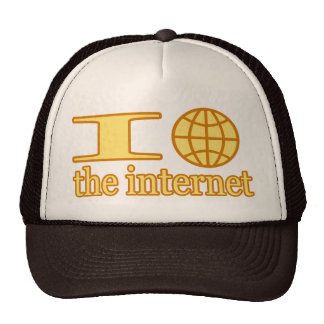 I Heart (or wire globe) the Internet Trucker Hat