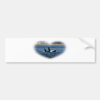 I heart Orcas Killer Whale Belly flop Bumper Sticker