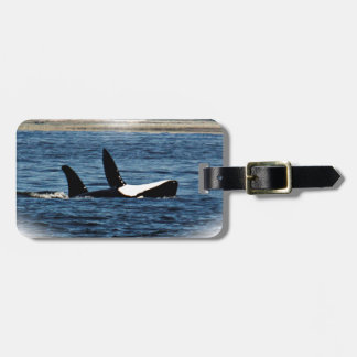 I heart Orcas Killer Whale Belly flop Tag For Luggage
