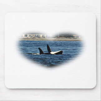 I heart Orcas Killer Whale Belly flop Mouse Pad