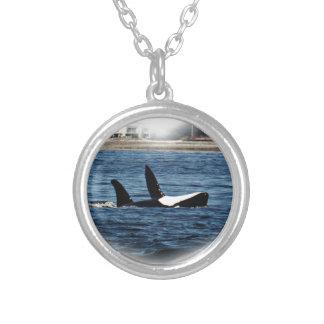 I heart Orcas Killer Whale Belly flop Pendants
