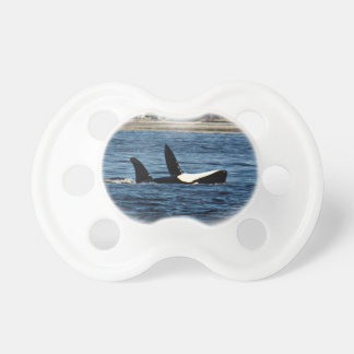 I heart Orcas Killer Whale Belly flop Pacifier