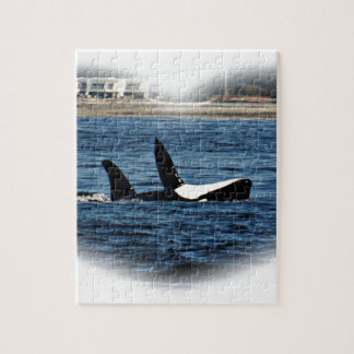 I heart Orcas Killer Whale Belly flop Puzzle