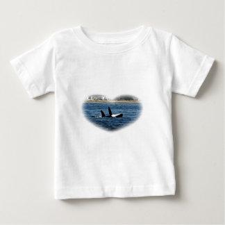 I heart Orcas Killer Whale Belly flop Tee Shirt